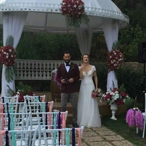 burcu biricik got married turkish celebrity news