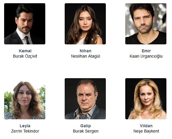 Blind Love (Kara Sevda) tv series actor and actress name