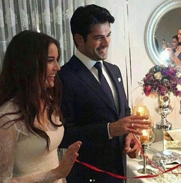 Burak Ozcivit and Fahriye Evcen's happy day