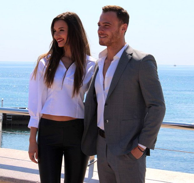 Leyla Lydia Tugutlu and Kerem Bursin from Turkish drama