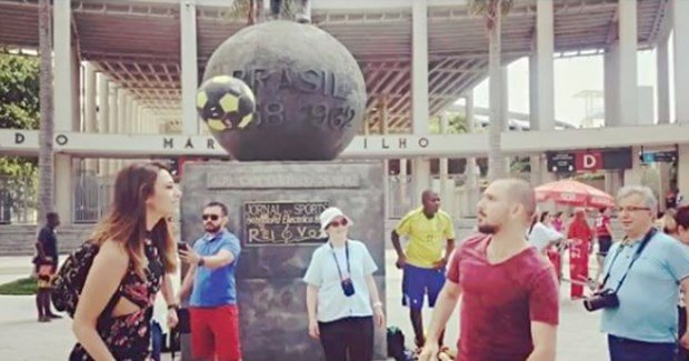 tuvana turkay play football in brazil