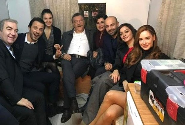 Erkan Avci, Tamer Levent in Brave and Beautiful (Cesur ve Guzel) tv series studio