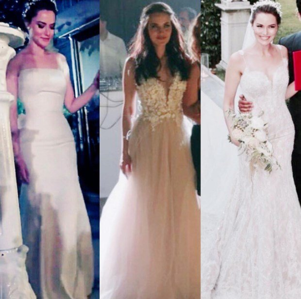 Fahriye Evcen wedding dress