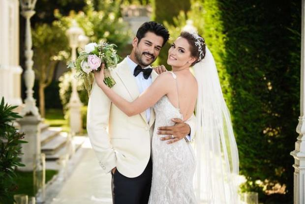 burak ozcivit fahriye evcen wedding photo