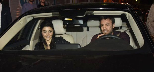 Hande Ercel and Murat Dalkilic had a dinner together in Nisantasi, Istanbul