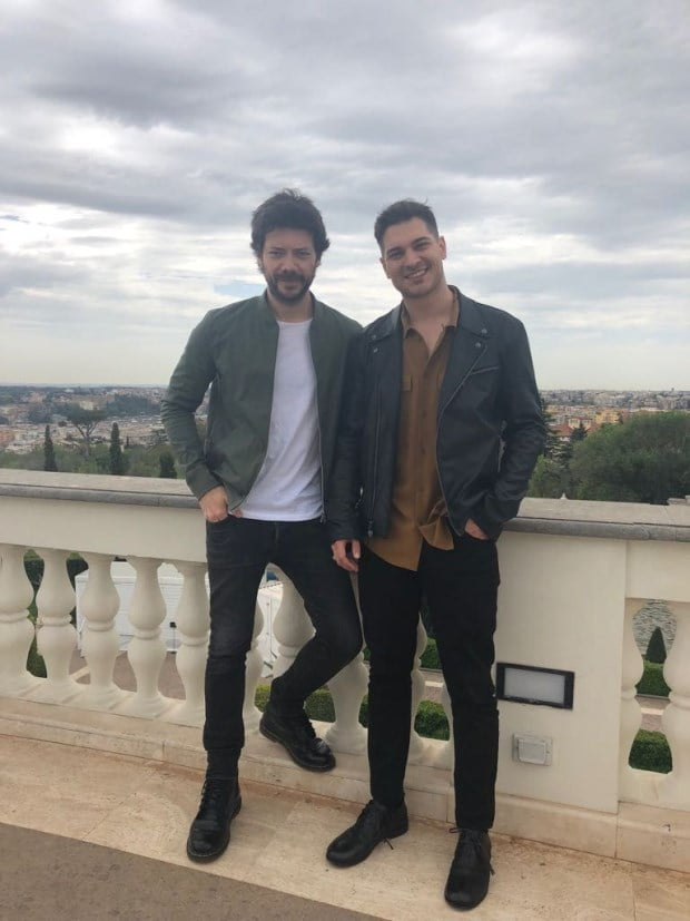 Cagatay Ulusoy and Alvaro Papel in Rome