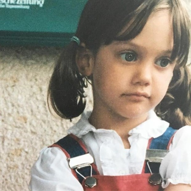 Meryem Uzerli Childhood Photo