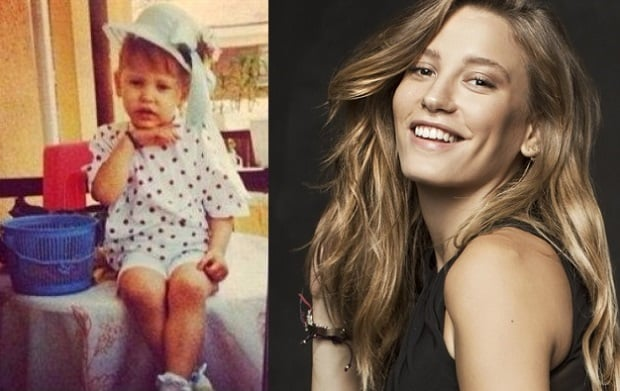 Serenay Sarikaya Childhood Photo and Seranay Sarikaya 2018 Photo