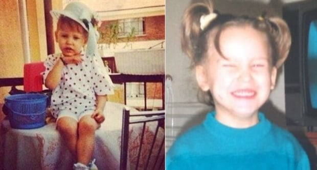 Serenay Sarikaya Childhood Photo