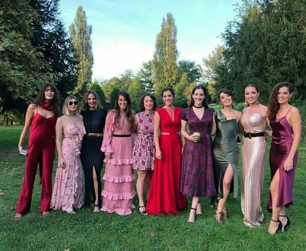 Bugra Gulsoy and Nilufer Gurbuz's families and close friends