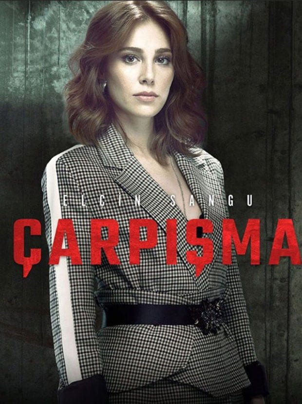 Elcin Sangu as Zeynep in Turkish Drama Collision (Çarpışma)