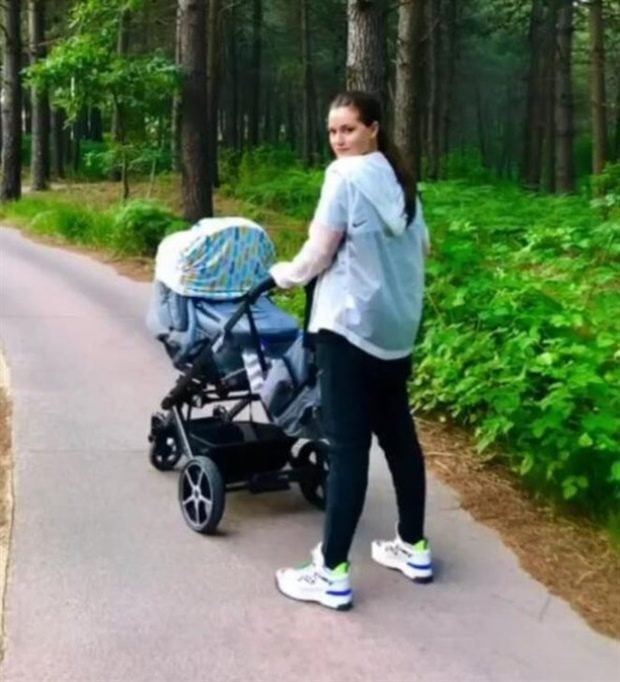 Fahriye Evcen and Her Baby