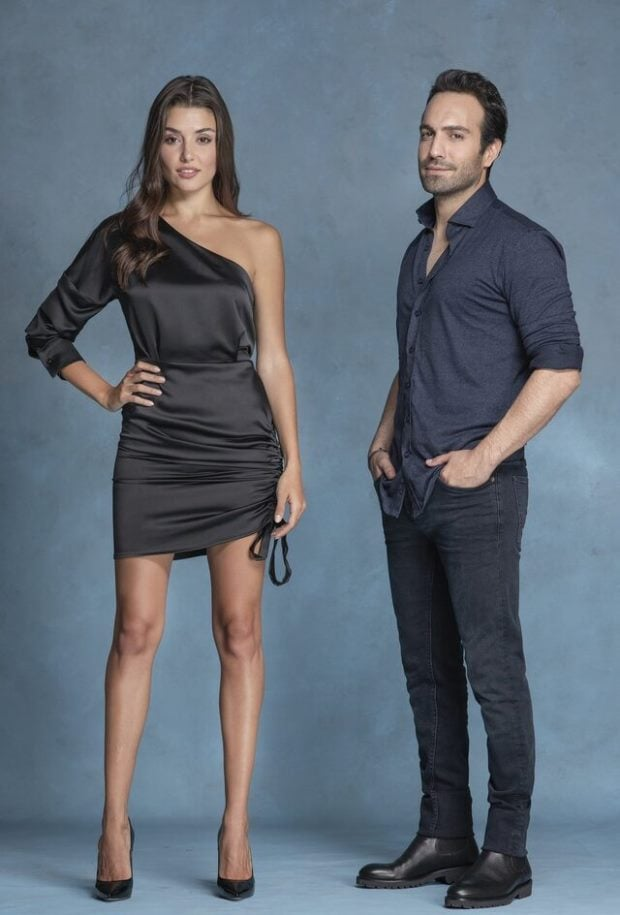 Hande Ercel and Bugra Gulsoy in Azize Tv Series