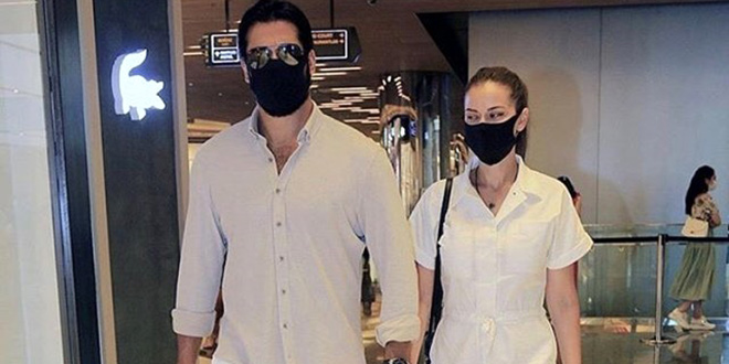 Burak Özçivit and Fahriye Evcen Go Shopping for Their Son Karan